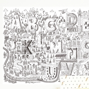 Wallpaper to color Adventure Letters