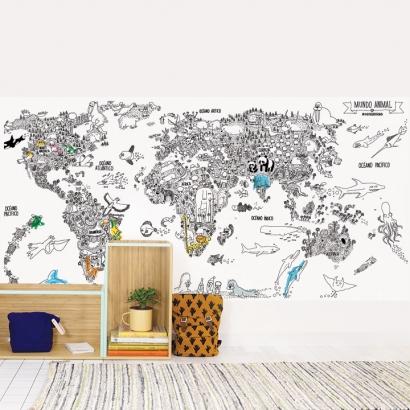 Wallpaper coloreable Animal World
