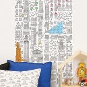 Wallpaper coloreable Metrópolis