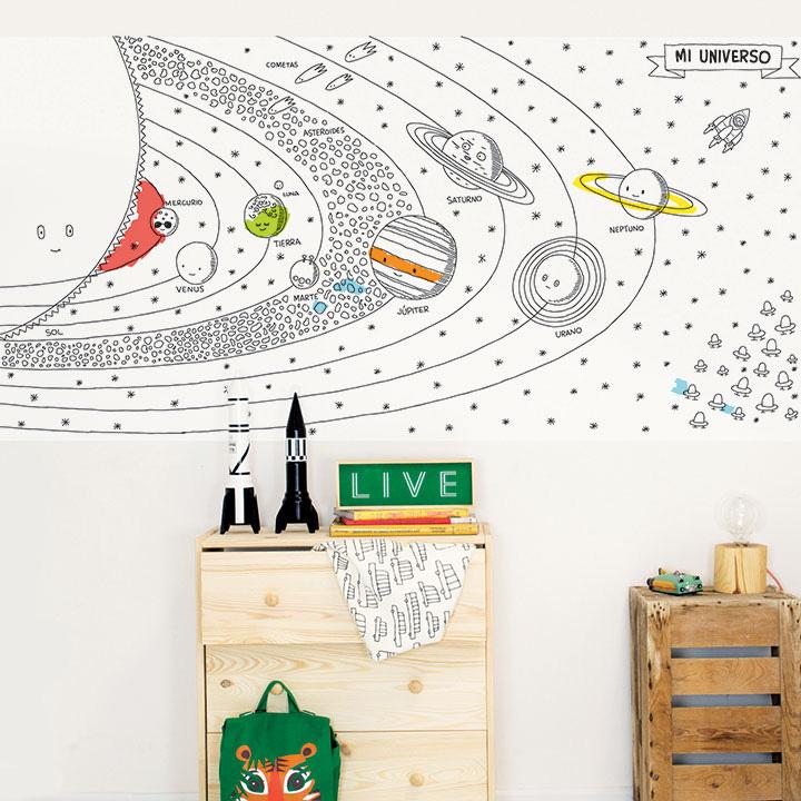 Wallpaper Coloreable Universo