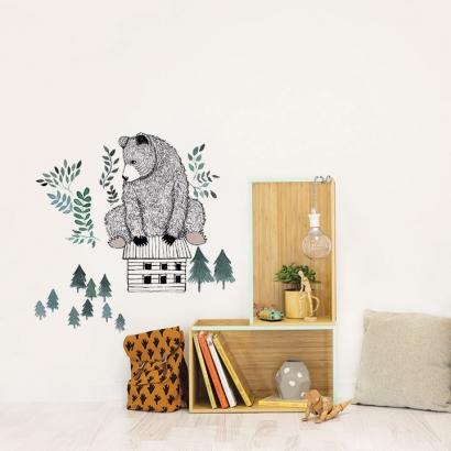 Bear and cabin