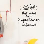 Los niños son superheroes disfrazados