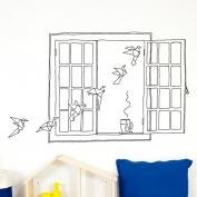 Paper Birds Window