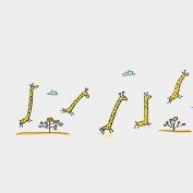 Jirafas corriendo