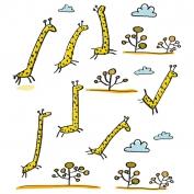 Giraffes on the run