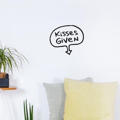 Kisses given
