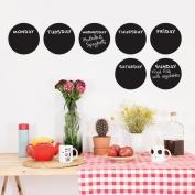 Circular weekly blackboard planner