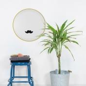 Para el padre con bigote feliz: vinilo + lámina personalizada