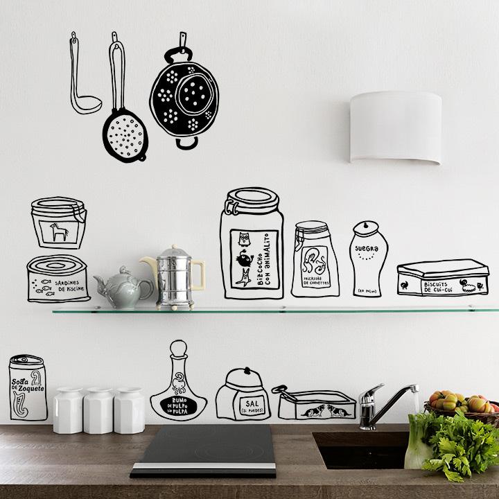 Garde manger for Vinilos pared cocina