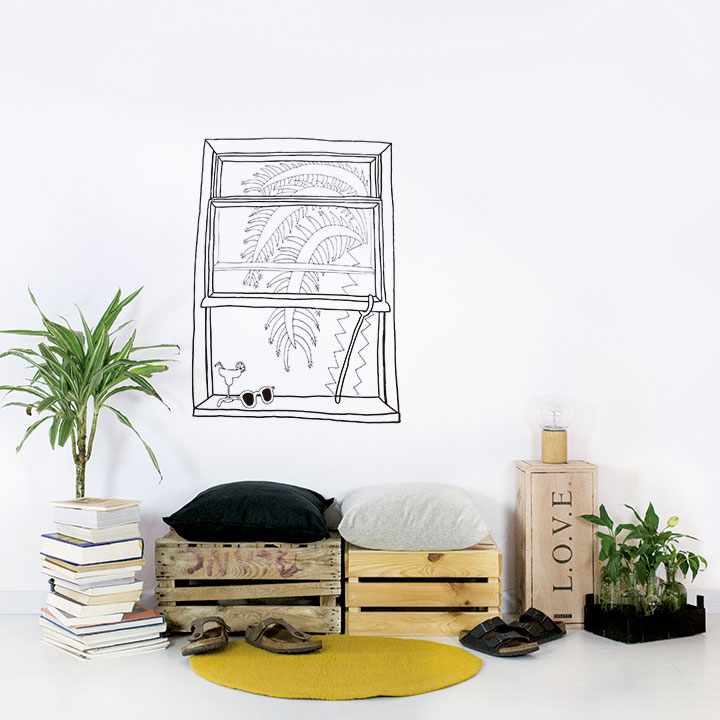 Palm tree window