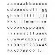 Vinilo magnético: Alfabeto