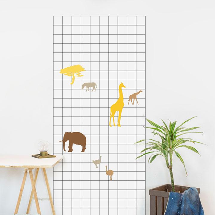 Vinilo magnético: Jungle animals
