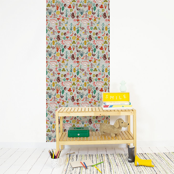 Papel de pared reposicionable Free in the woods