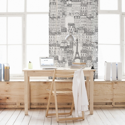 Papel de pared reposicionable City of Paris