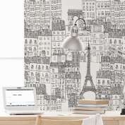Papel de pared reposicionable City of Paris