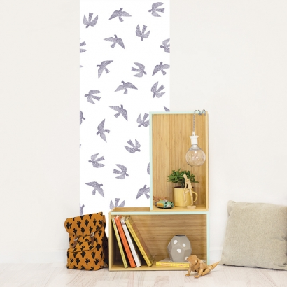 Papel de pared reposicionable Birds