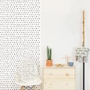 Papel de pared reposicionable puntos