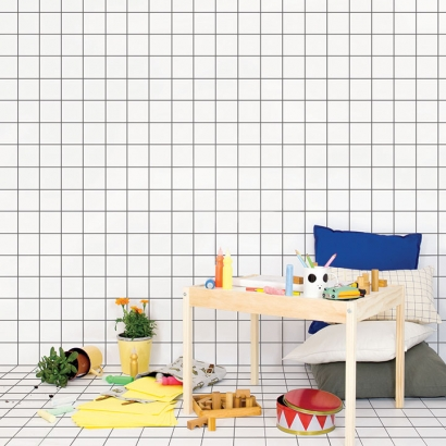 Wallpaper Repositionable Grid