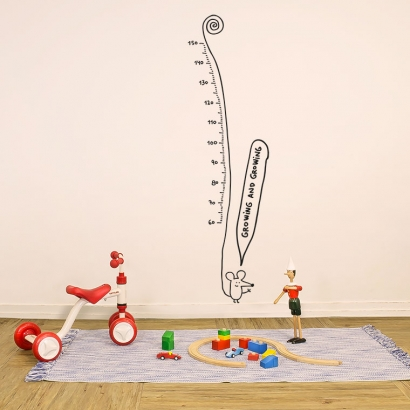 Growth chart: growing and growing